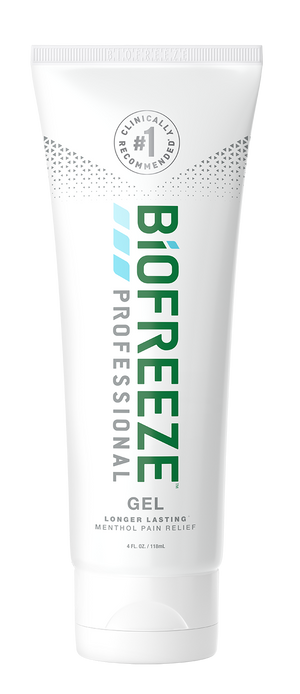 A tube of Biofreeze® Professional - Gel 4 fl oz