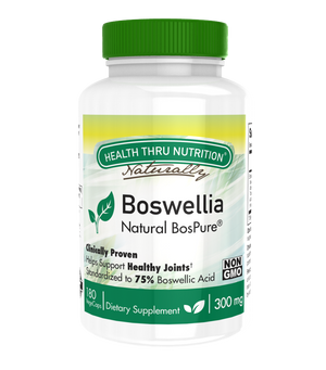 A bottle of Health Thru Nutrition Boswellia 300mg
