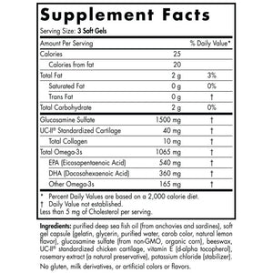 Supplement Facts for Nordic Naturals Omega Joint Xtra