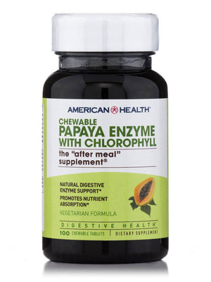 A bottle of American Health Papaya Enzyme with Chlorophyll