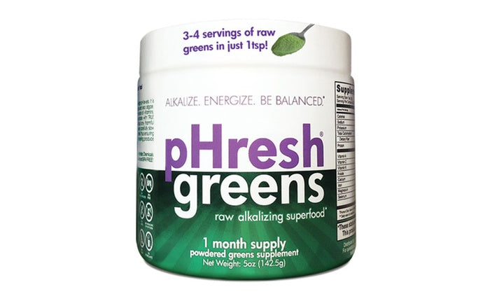 A jar of pHresh Products pHresh Greens