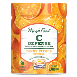 A jar of Megafood Gummy C Defense - Tangy Citrus