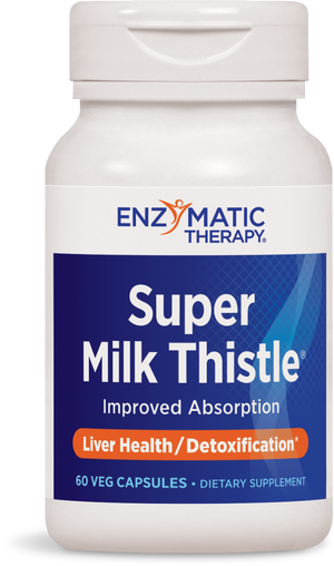 A bottle of Enzymatic Therapy Super Milk Thistle®