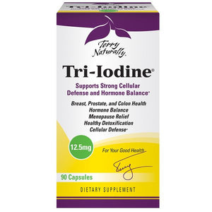 A package of Terry Naturally Tri-Iodine® 12.5 mg