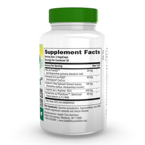 Back of the bottle with supplemental facts for Health Thru Nutrition CelluRex