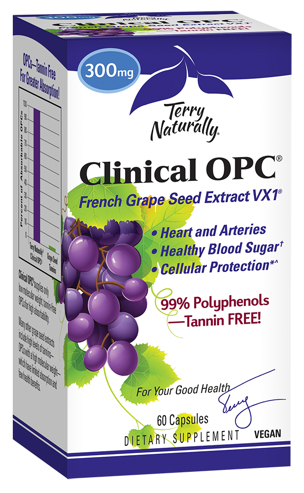 A package of Terry Naturally Clinical OPC® 300 mg