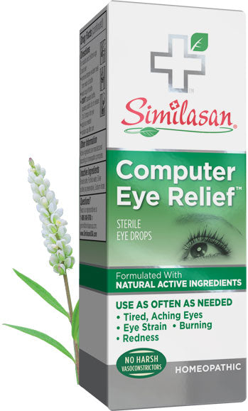 A package of Similasan Computer Eye Relief