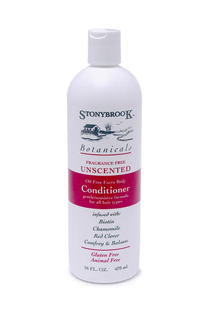 A bottle of Stony Brook Botanicals Conditioner Unscented 16oz