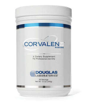 A jar of Douglas Laboratories Corvalen M® Ribose