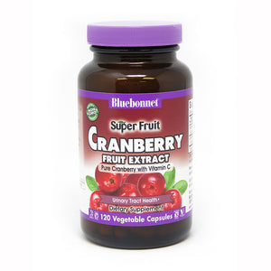 A bottle of Bluebonnet Super Fruit Cranberry Fruit Extract