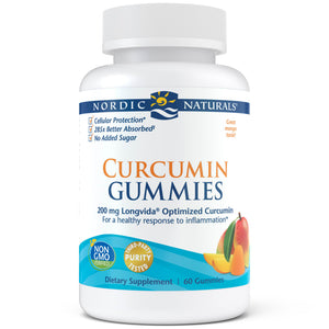 A bottle of Nordic Naturals Curcumin Gummies