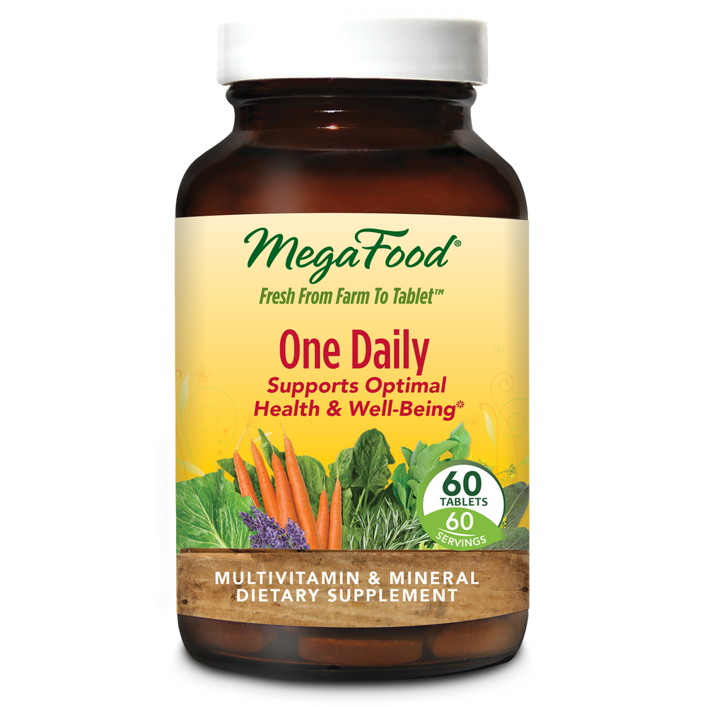A bottle of Megafood One Daily Multivitamin