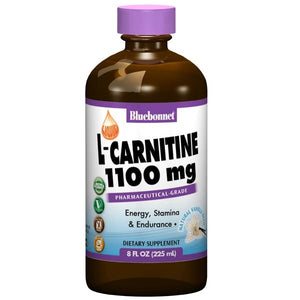 A bottle of Bluebonnet Liquid L-Carnitine 1100 mg