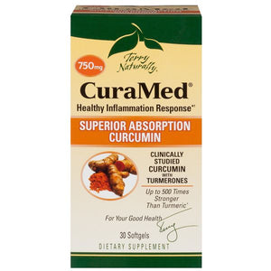 A package of Terry Naturally CuraMed® 750 mg
