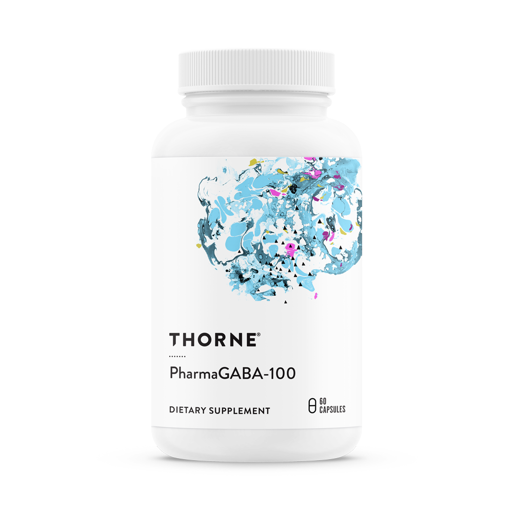 A bottle of Thorne PharmaGABA-100