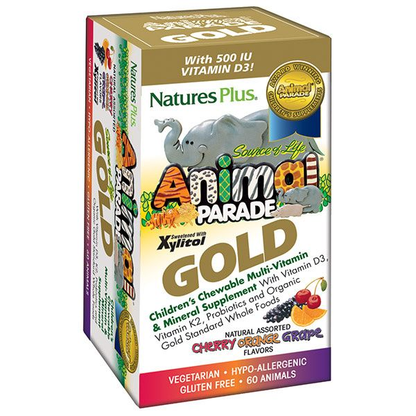 A package for Nature's Plus Animal Parade® GOLD Children's Chewable Multi - Assorted Flavors