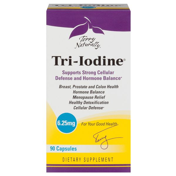 A package of Terry Naturally Tri-Iodine® 6.25 mg