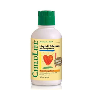 A bottle of ChildLife Liquid Calcium with Magnesium