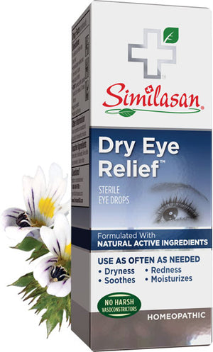 A package of Similasan Dry Eye Relief Drops