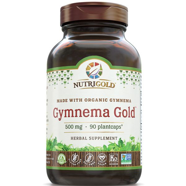 A bottle of NutriGold Gymnema Gold