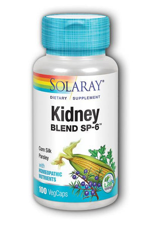 A bottle of Solaray Kidney Blend SP-6