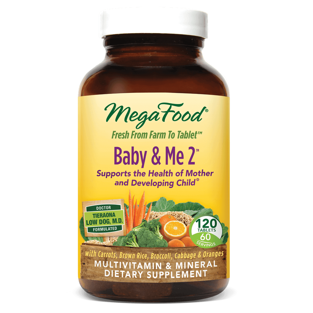 A bottle of Megafood Baby & Me 2™