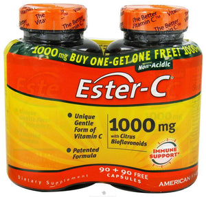 A pack of bottles for American Health Ester-C - Buy One, Get One