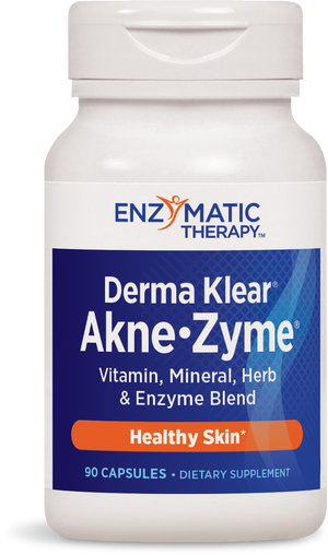 A bottle of Enzymatic Therapy Derma Klear® Akne Zyme®