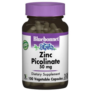 A bottle of Bluebonnet Zinc Picolinate 50 mg