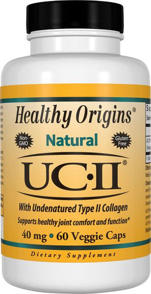 A bottle of Healthy Origins UC II Collagen 40 mg