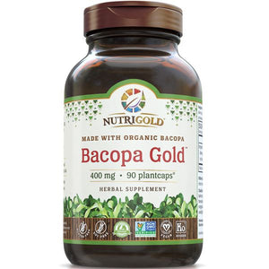 A bottle pf NutriGold Bacopa Gold