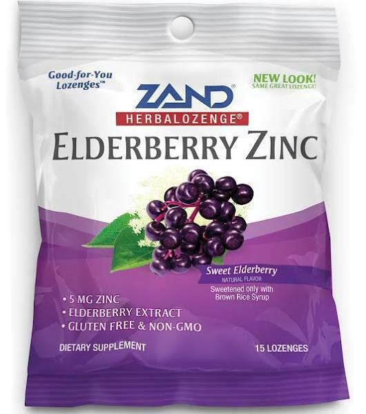 Bag of Zand Elderbery Zinc lozenges