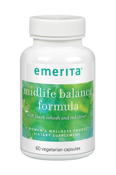 A bottle of Emerita Midlife Balance Formula