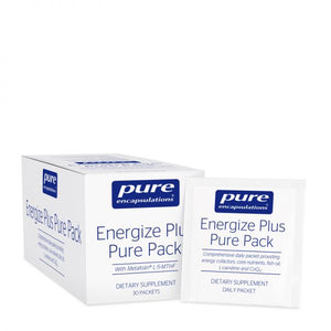 A package and pack of Energize Plus™ Pure Pack 30 packets