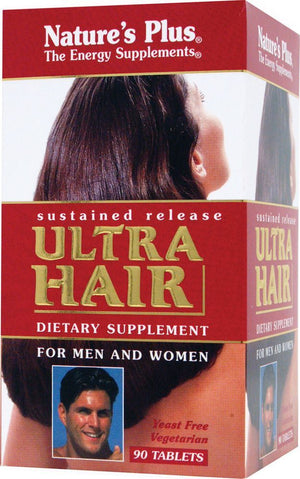 A package of Nature's Plus Ultra Hair® Sustained Release Tablets