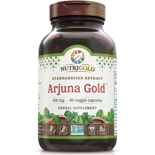 A bottle of NutriGold Arjuna Gold