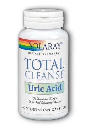 A bottle of Solaray Total Cleanse Uric Acid