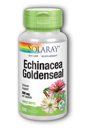 A bottle of Solaray Echinacea Goldenseal