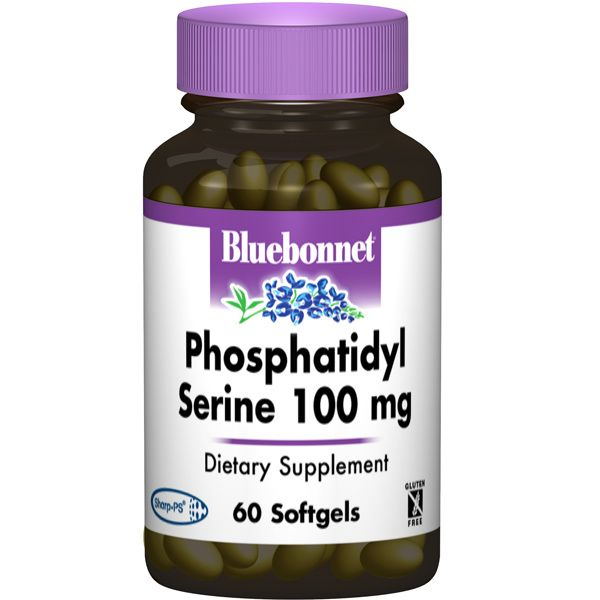 A bottle of Bluebonnet Phosphatidyl Serine 100 mg