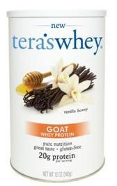 A jar of Tera's Vanilla Honey Goat Whey
