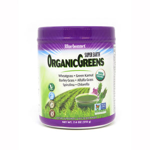 A jar of Bluebonnet Super Earth® OrganicGreens Powder