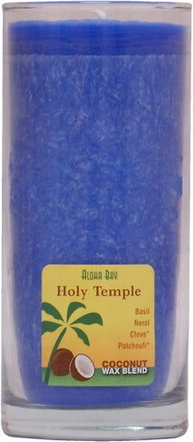 Candle Coconut Jar Holy Temple Royal Blue - Aloha Bay