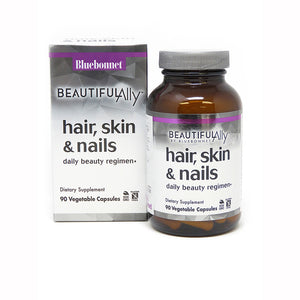 Package and bottle for Bluebonnet Beautiful Ally® Hair, Skin, & Nails