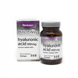 Package and Bottle for Bluebonnet Beautiful Ally® Hyaluronic Acid 100 Mg
