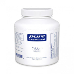A bottle of Pure Calcium (citrate)