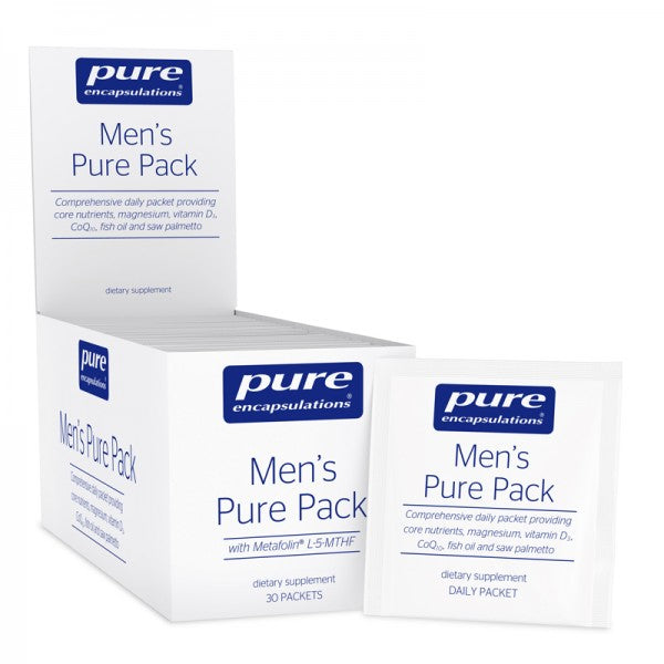 A pack and package of Pure Men's Pure Pack