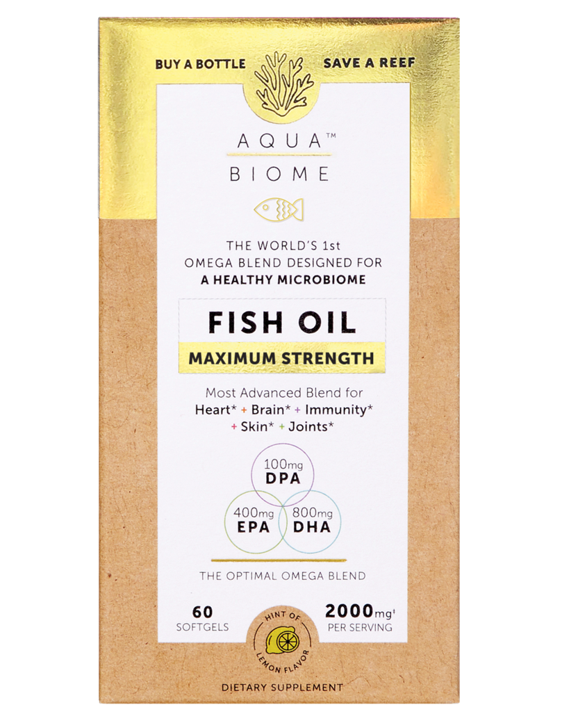 A package for Enzymedica Aqua Biome Fish Oil Maximum Strength