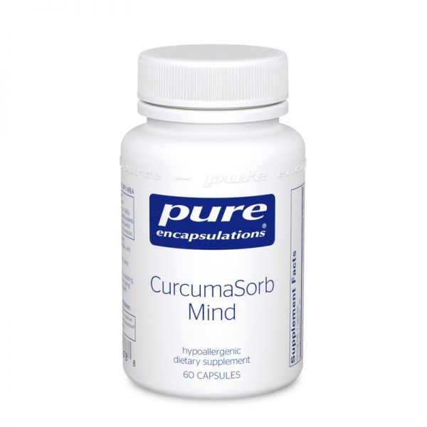 A bottle of Pure CurcumaSorb Mind