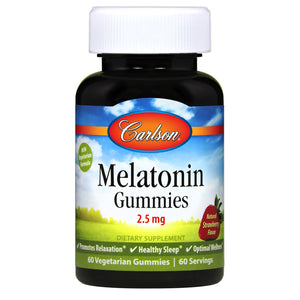 A bottle of Carlson Melatonin Gummies 2.5 mg