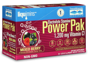 A package of Electrolyte Stamina Power Pak NON-GMO Mixed Berry